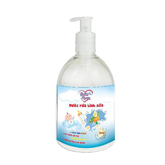 Nước rửa bình sữa 220ml BuB&MuM công dụng diệt khuẩn, làm sạch, ngăn ngừa vi khuẩn giúp b