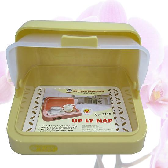Hình ảnh Khay úp ly, úp cốc có nắp ( giao màu ngẫu nhiên)