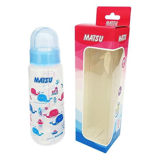 Bình sữa MATSU Duy Tân 250ml không quai No.1206 – Giao màu ngẫu nhiên