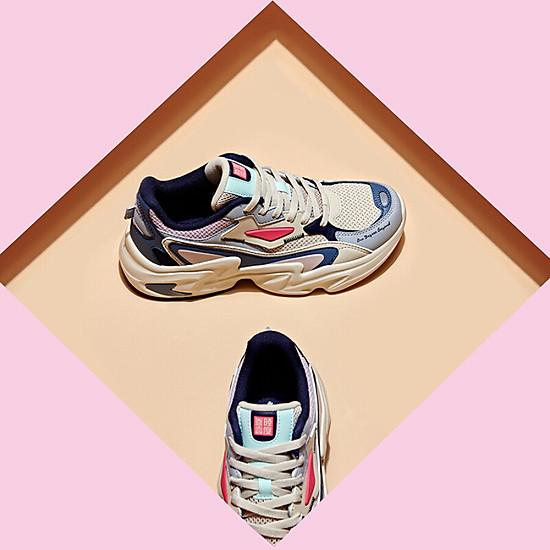 Giày Sneaker 361° 671936786-3 Phối Màu Retro Cá Tính Cho Nam (41) - Beige / Urban Pink-4