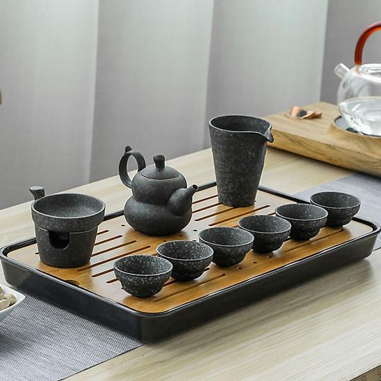 Hình đại diện sản phẩm Cheng Wenge ceramic kungfu set tea set home tea set tea set tea cup tea set whole Kung Fu tea set with tea plate C2017