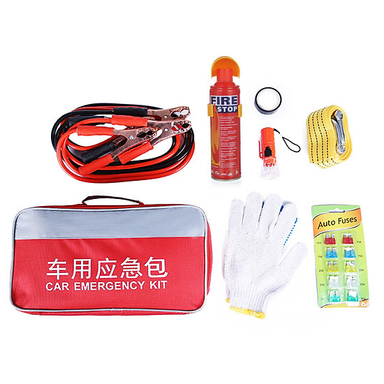 Hình đại diện sản phẩm 40,000 km car emergency kit seven in one car rescue kit first aid kit self-driving kit car 7 sets SWY2001
