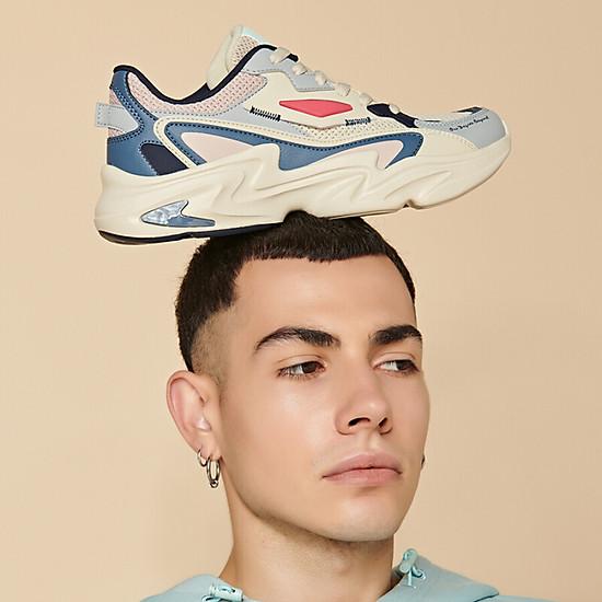 Giày Sneaker 361° 671936786-3 Phối Màu Retro Cá Tính Cho Nam (41) - Beige / Urban Pink-2