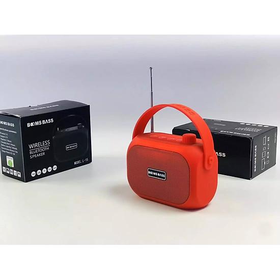 Loa bluetooth không dây mini LANITH bass mạnh Boombass L15 - Tặng cáp sạc 3 đầu – Thiết kế nhỏ gọn, thời trang – Kết nối không dây bluetooth, kết nối USB, thẻ nhớ - LB000015.CAP0001 - Đen-8