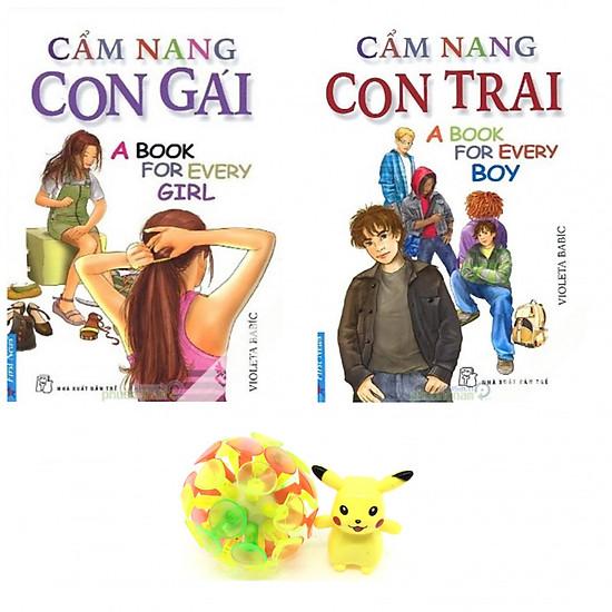Combo Cẩm Nang Con Gái, Cẩm Nang Con Trai (tặng kèm bóng ném dính và gọt bút chì)