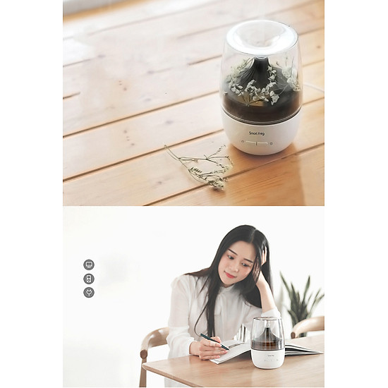 Xiaomi Ecological Chain Ultrasonic Aromatherapy Humidifier With Colorful Night Light Two Spray Modes Mini Air Humidifier Household Nano Spray Mute Humidifying Aroma Diffuser For Office Car Use - White-11