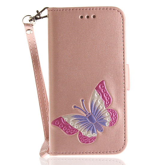 iPhone 7 iPhone 8 Case Painted Butterfly PU Leather Flip Wallet Magnetic Cover for iPhone 7 iPhone 8