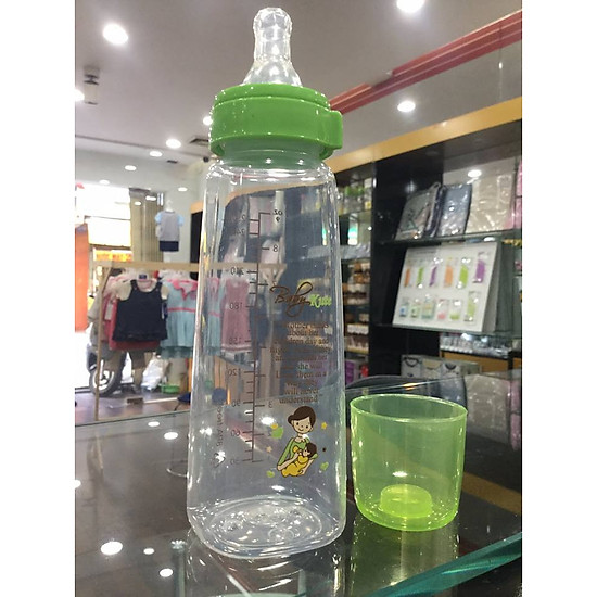 Bình sữa bằng nhựa PP 250ML Baby Kute ( kiểu đế vuông ) nhập khẩu từ Thái Lan