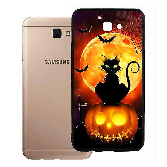 Ốp lưng Halloween viền TPU cho điện thoại Samsung Galaxy J7 Prime - Mẫu 05