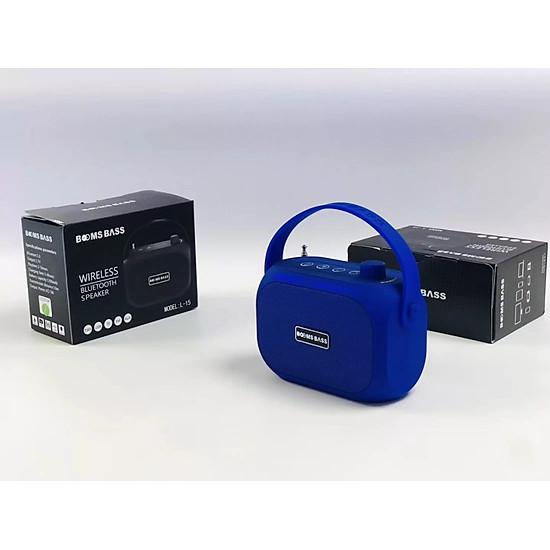 Loa bluetooth không dây mini LANITH bass mạnh Boombass L15 - Tặng cáp sạc 3 đầu – Thiết kế nhỏ gọn, thời trang – Kết nối không dây bluetooth, kết nối USB, thẻ nhớ - LB000015.CAP0001 - Đen-9