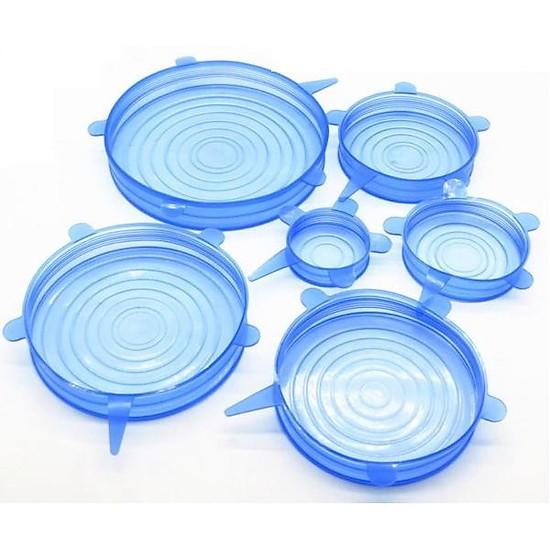 Bộ 6 màng bọc Silicone chịu nhiệt đa năng (Màu xanh)