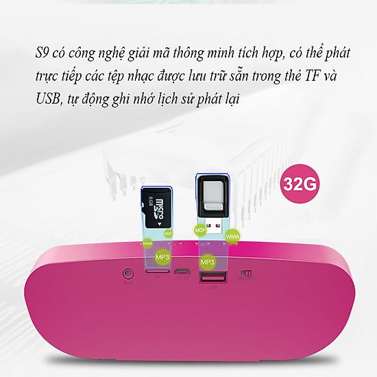 Loa bluetooth Zealot ngoài trời âm thanh siêu trầm S9 hàng chính hãng tương thích điện thoại di động máy tính laptop - Đen-19