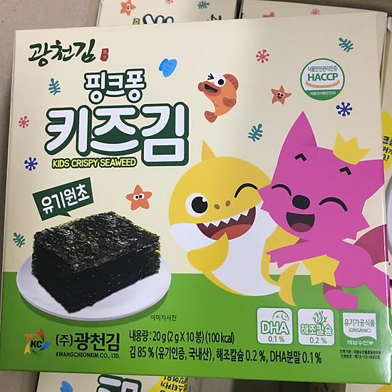 Rong biển Organic Pink Fong Hàn Quốc cho bé – ít dầu