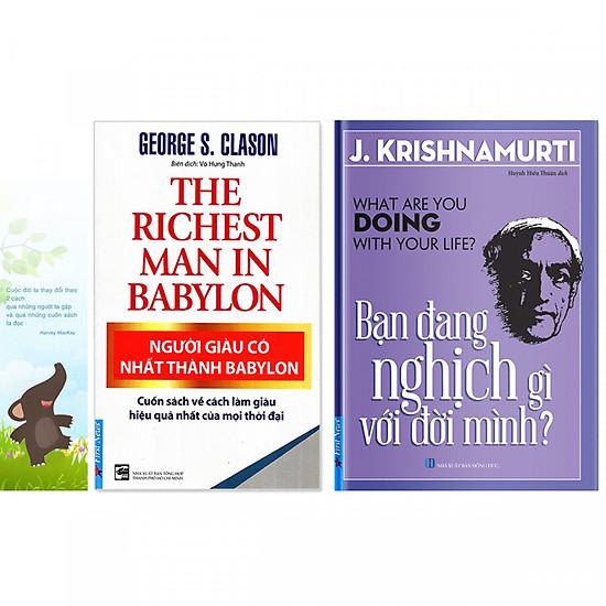 Combo 2 quyển: Người Giàu Có Nhất Thành Babylon + Bạn Đang Nghịch Gì Với Đời Mình ? (Tặng kèm bookmark danh ngôn hình voi)