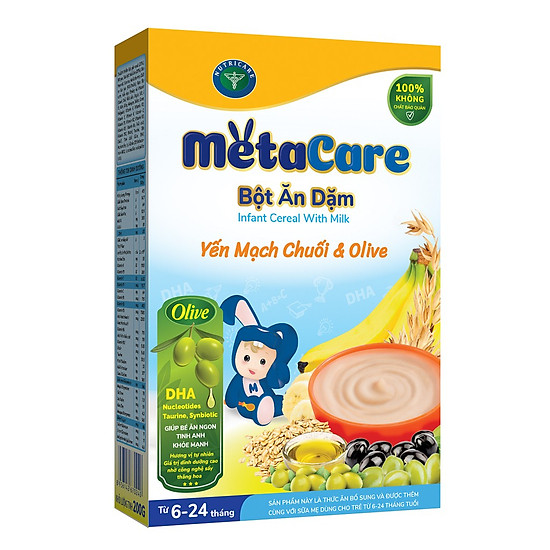 Bột ăn dặm MetaCare Yến Mạch Chuối & Olive 200g