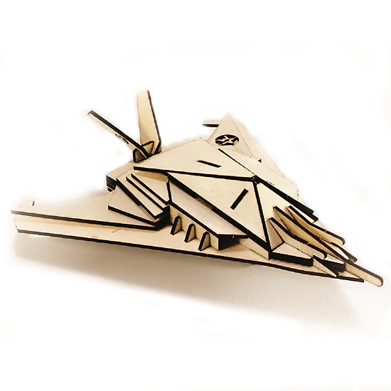 Máy bay 08 _ Mô Hình Lắp Ráp Gỗ bằng Hình Ảnh
