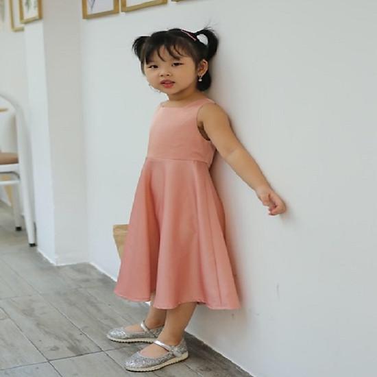 Đầm dự tiệc cho bé gái màu hồng