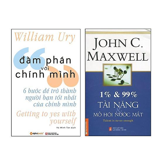 Combo Sách Đàm Phán Với Chính Mình và 1% Và 99% Tài Năng Và Mồ Hôi Nước Mắt