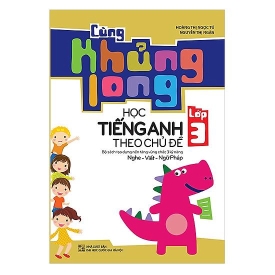 Combo 5 Cuốn Cùng Khủng Long Học Tiếng Anh Theo Chủ Đề - Tái Bản lần 1 (Tặng kèm Sổ Tay Ma Thuật A4 Magic Rainbow Notebook)