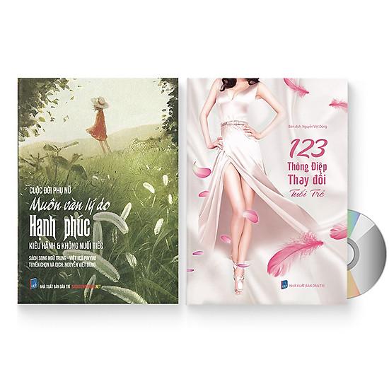 Combo 2 sách: Cuộc đời phụ nữ: Muôn vàn lý do hạnh phúc + Một trăm hai mươi ba thông điệp thay đổi tuổi trẻ 2019 + DVD quà tặng