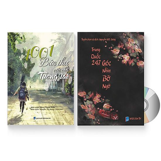 Combo 2 sách: 1001 Bức thư viết cho tương lai + Trung Quốc 247: Góc nhìn bỡ ngỡ (Song ngữ Trung - Việt có Pinyin) + DVD quà tặng