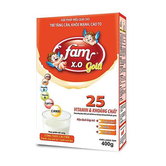 Sữa bột FAM X.O GOLD – Hộp giấy 400gr
