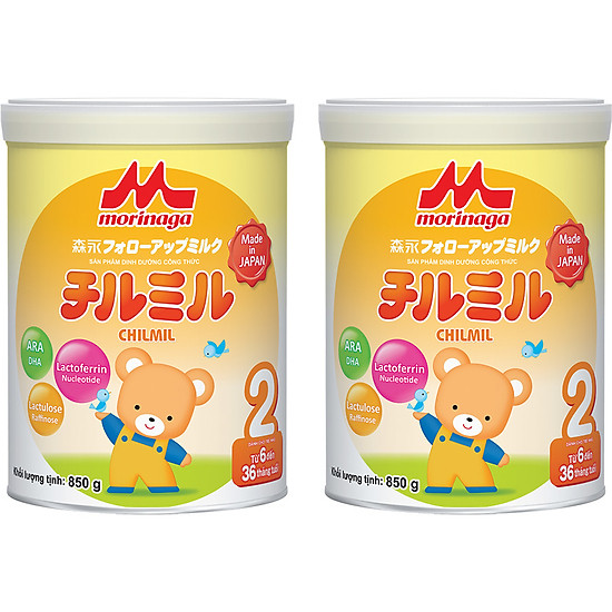 Combo 2 lon Sữa Morinaga số 2 (Chilmil) 850g