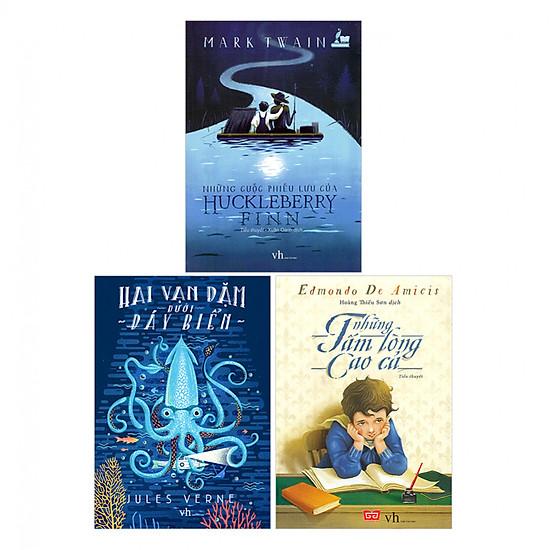 Combo Hai Vạn Dặm Dưới Đáy Biển - Huckleberry Finn - Những Tấm Lòng Cao Cả (Tái Bản)