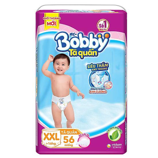 Tã Quần Bobby Ultra Jumbo XXL56 Siêu Siêu Lớn (Size XXL) - 56Miếng
