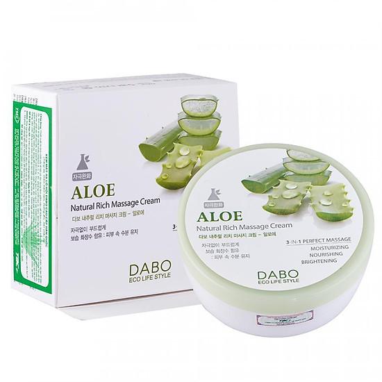 Kem Mát Xa Lô Hội Hàn Quốc - DABO Natural Rich Massage Cream Aloe
