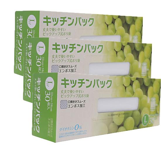 Combo Set 30 túi ny lông bảo quản thực phẩm nội địa Nhật Bản