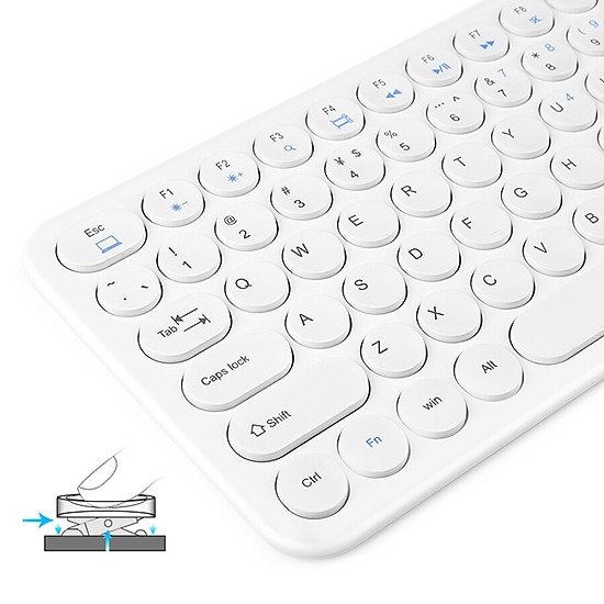 (BOW)HW098S-A mute round concave key ultra-thin wired keyboard office notebook portable USB keypad white-5