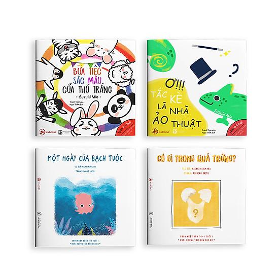 Sự kỳ diệu của màu sắc – Combo 4 cuốn Ehon Nhật Bản cho bé 0 – 6 tuổi ( Tặng kèm cuốn Câu