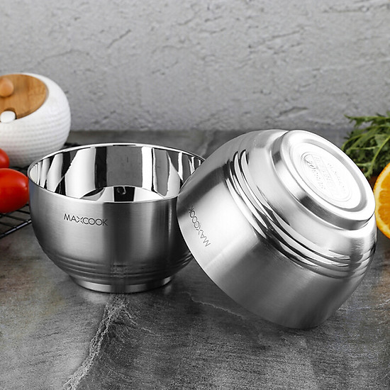Maxcook 304 stainless steel bowl soup bowl double insulated tableware bowl 13CM MCWA601-2