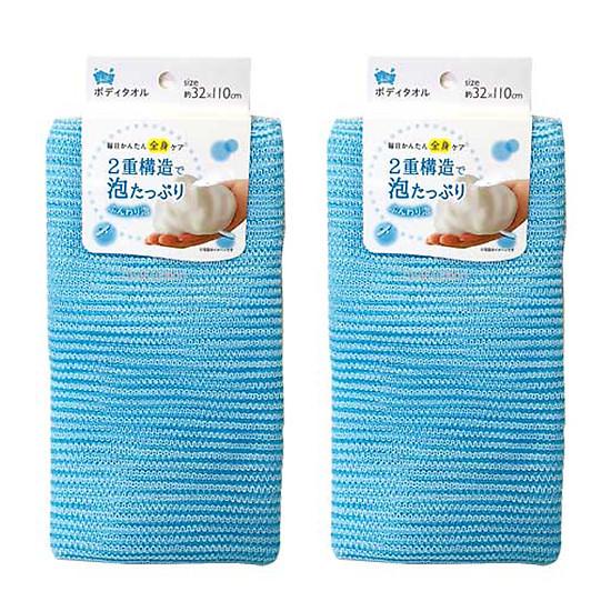 Combo 2 Khăn tắm cotton mềm mịn cho bé nội địa Nhật Bản