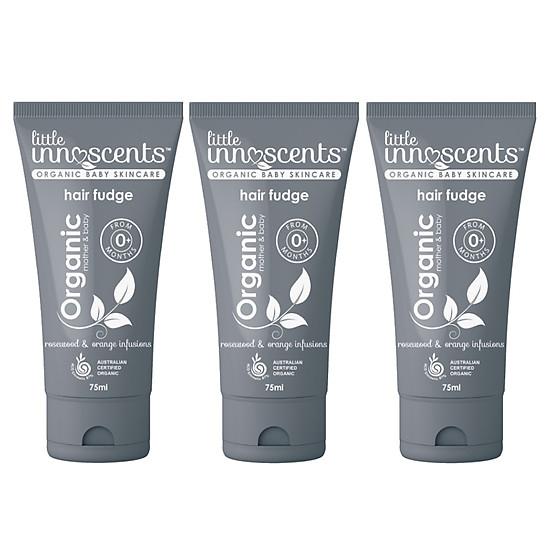 Bộ 3 tuýp Gel Tạo Kiểu Tóc Organic – Little Innoscents Organic Hair Fudge