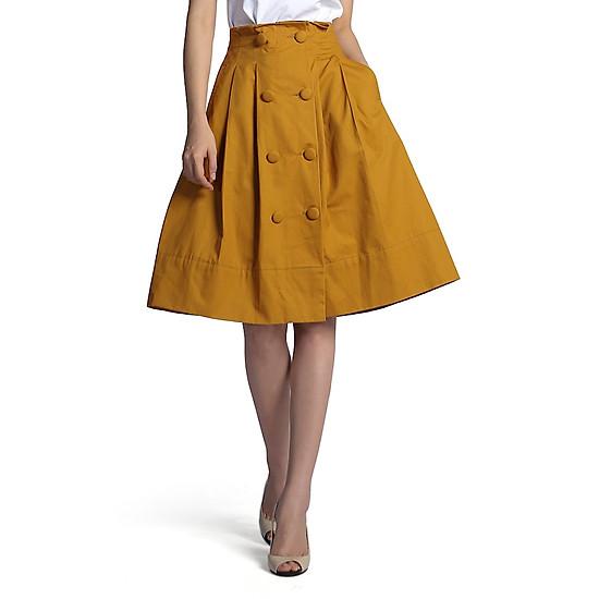 Hình đại diện sản phẩm Chân Váy Xoè De Leah Midi Cúc Bọc
