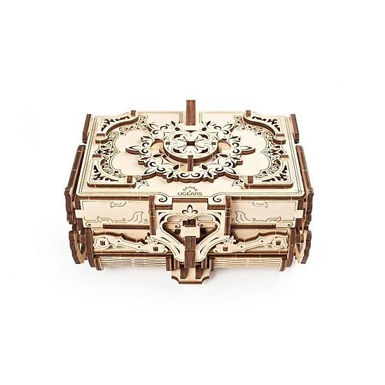 Mô Hình Gỗ Cơ Khí –  Ugears Antique box – Hộp nữ trang, Chính hãng Ugears, nhập khẩu