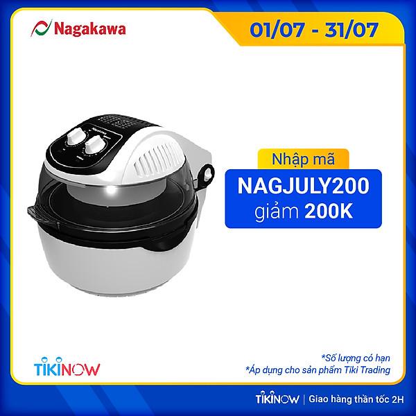Nồi Chiên Không Dầu Đa Năng 360 Độ Nagakawa Nag3302 (9 Lít) – Hàng Chính Hãng