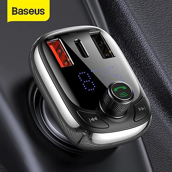 Tẩu sạc ô tô Baseus S13 sạc nhanh QC 4.0 , PD 36W Max cho điện thoại , Bluetooth 5.0 tích hợp FM, thẻ nhớ TF SD, USB x2 – Hàng Chính Hãng