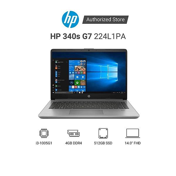 Laptop HP 340s G7 224L1PA i3 1005G1 | 4GB RAM | 512GB SSD | 14″ FHD | Win 10 | Xám – Hàng Chính Hãng
