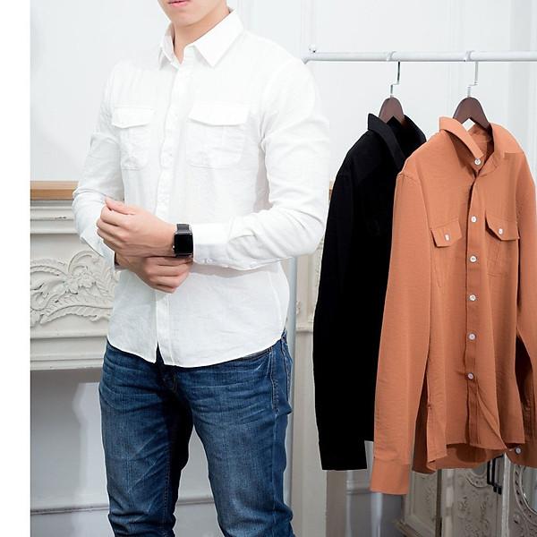 Áo sơ mi đũi thời trang nam,áo sơ mi nam cao cấp phong cách nam tính 3 màu, chất đũi mềm mịn không nhăn