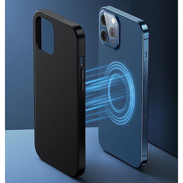 Ốp lưng da nam châm Baseus Magsafe dành cho các dòng iPhone 12 Mini / 12 & 12 Pro / 12 Pro Max Original Magnetic Leather Case_ Hàng Nhập Khẩu