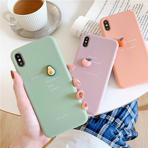 Ốp Lưng iPhone Trái Cây Tí Hon Trơn Dễ Thương Dành Cho iPhone 6 / 6 Plus / 7 / 7 Plus / 8 / 8 Plus / X / Xs / Xs Max / 11 / 11 Pro / 11 Pro Max / 12 / 12 Pro / 12 Pro Max