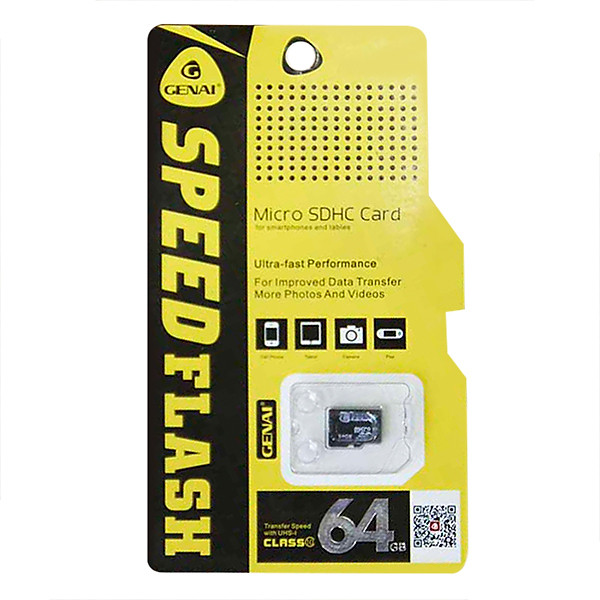 Thẻ Nhớ Micro SDXC Genai UHS-I U1 Class10 64GB