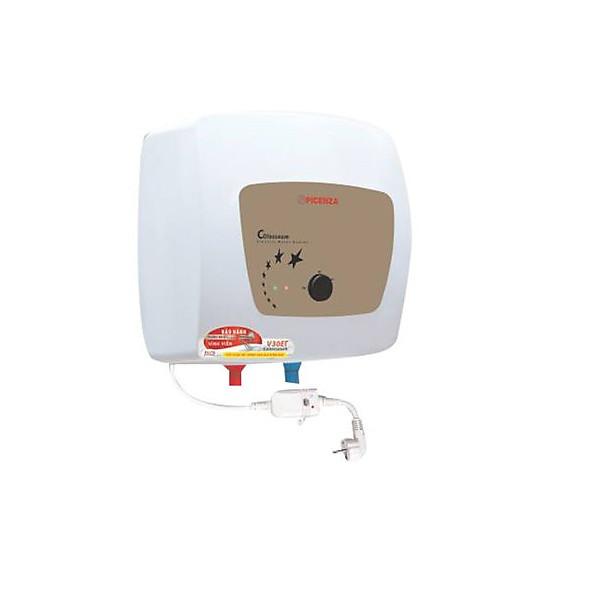 Bình nóng lạnh Picenza 30L, tráng men, có dây chống giật ELCB Picenza V30ET