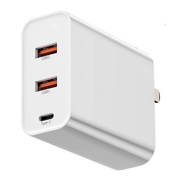 Adapter củ cóc sạc nhanh 60W đa năng 2 cổng sạc USB và 1 cổng PD type c hiệu Baseus Speed chuẩn sạc nhanh