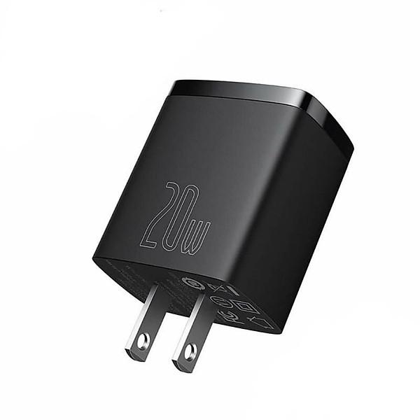 Cốc sạc siêu nhỏ gọn 20W Baseus Compact Quick Charger (USB + Type C, công suất 20W) – Hàng Chính Hãng