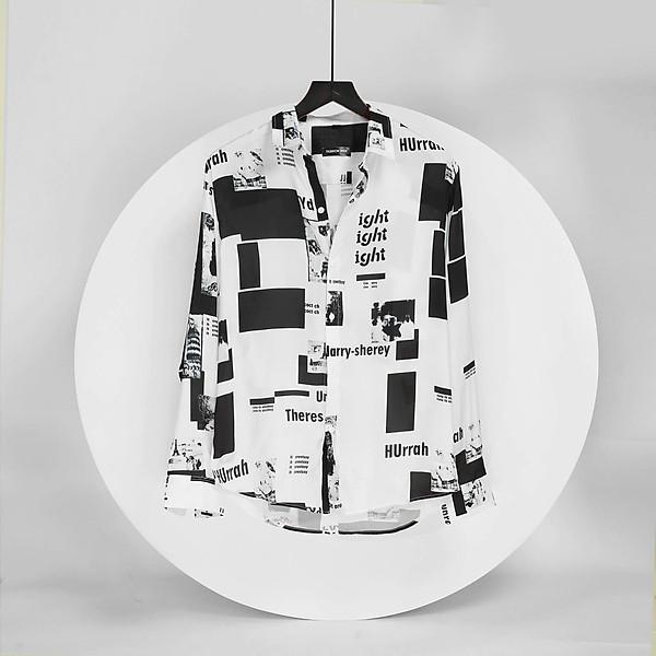 Áo Sơ Mi Nam Trắng Họa Tiết Form Rộng thương hiệu Julido Store, phong cách đậm chất hàn quốc SM9999