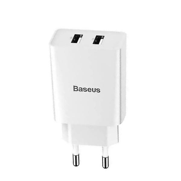 Dock sạc nhanh Baseus 10.5W vỏ nhựa PC cao cấp Dual USB an toàn tuyệt đối cho thiết bị sạc ( 2 màu ) – Hàng chính hãng